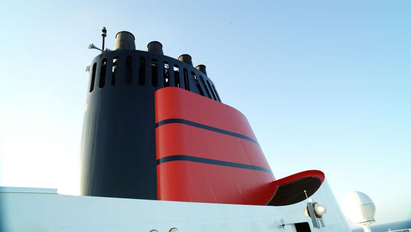 Cunard Schornsteine