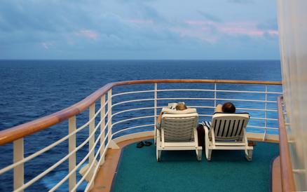 Meeresblick von einem Kreuzfahrtschiff